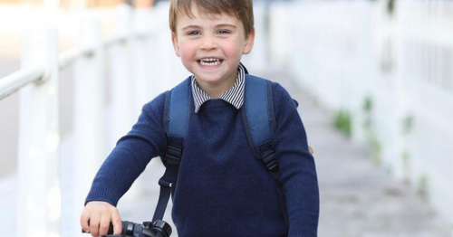 Prince Louis seen riding £190 Frog bike on eve of his 3rd birthday