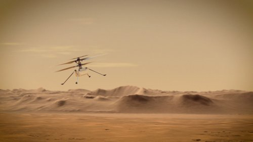 NASA celebrates first ever powered flight on another planet, as Ingenuity helicopter rises above Mars