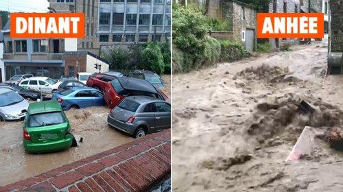 """Les orages s'abattent, la province de Namur fortement touchée: """"C'est la catastrophe à Dinant"""""""