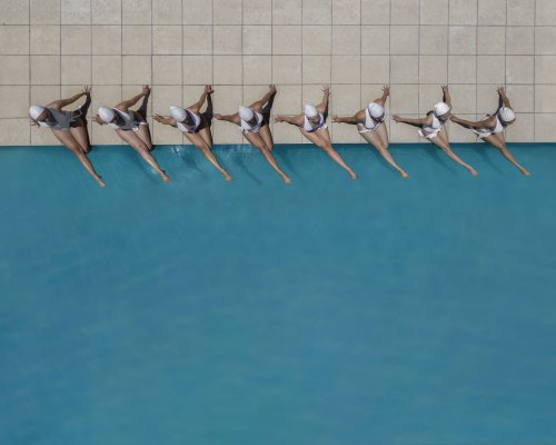 Synchronized Swimming ethereally captured by Brad Walls in his new series