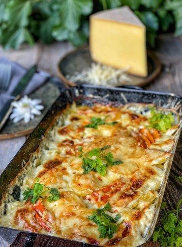Kürbis-Kartoffel-Auflauf mit Bergkäse - Rezept   S-Küche