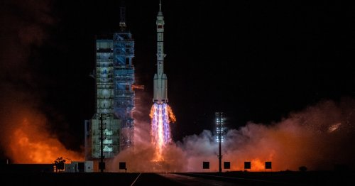 Chinese crew arrives at new space station for historic six-month mission