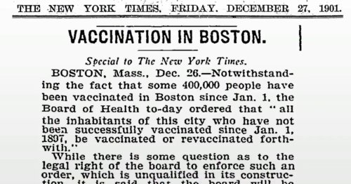 How a vaccine mandate helped defeat small pox at the start of the 20th century