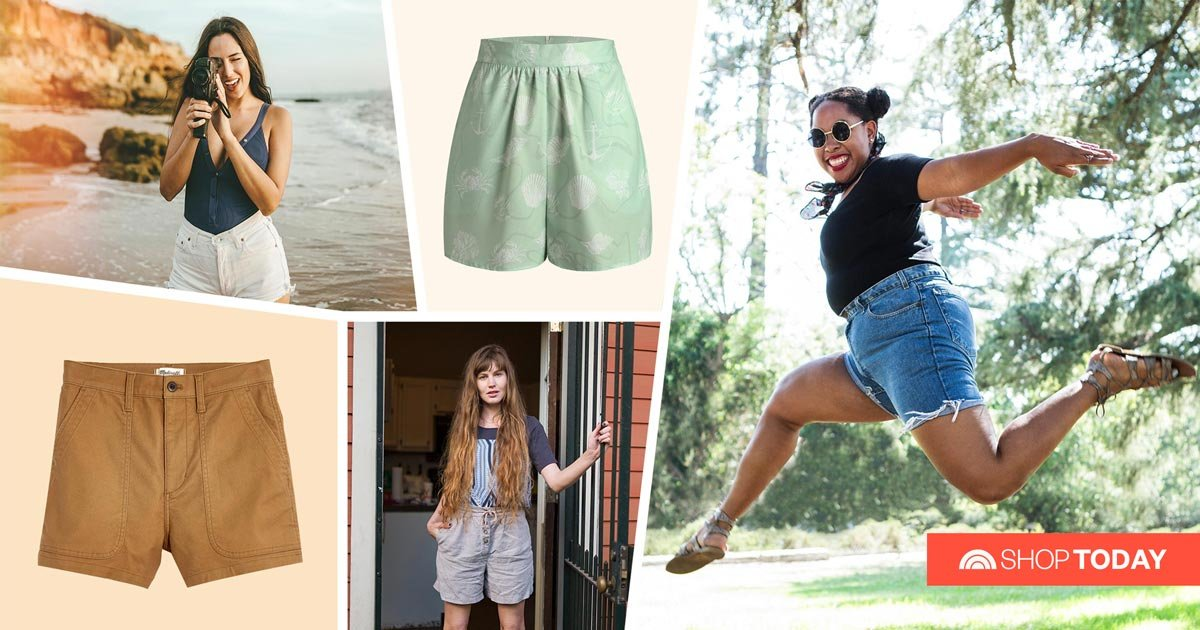 12 form-fitting, flattering pairs of high-waisted shorts to shop