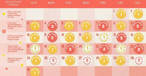Ease back into fitness with this simple 31-day walking plan