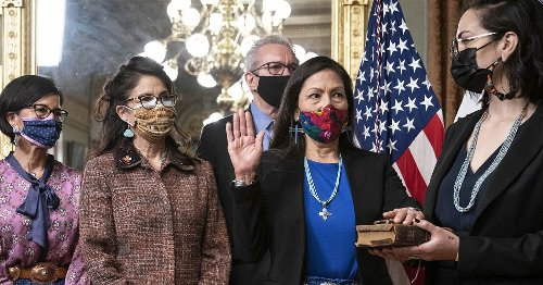 Rep. Debra Haaland wore Indigenous dress as she made Cabinet history