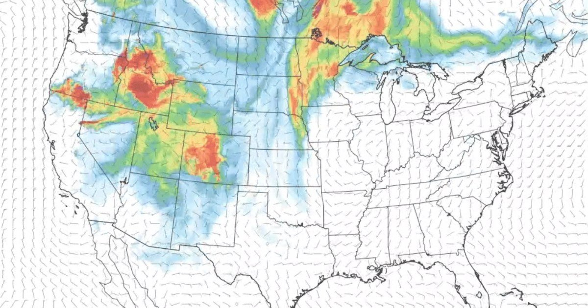Map: Watch July's wildfire smoke travel across the country