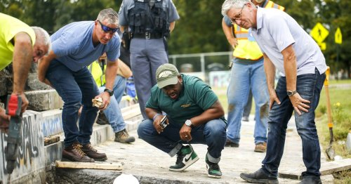 Search comes up empty for 1887 time capsule at site of downed Robert E. Lee statue
