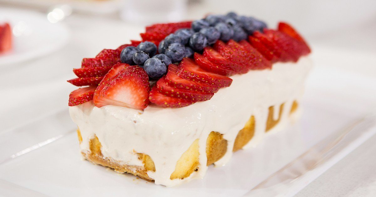 Make Sunny Anderson's easy patriotic poke cake for July Fourth