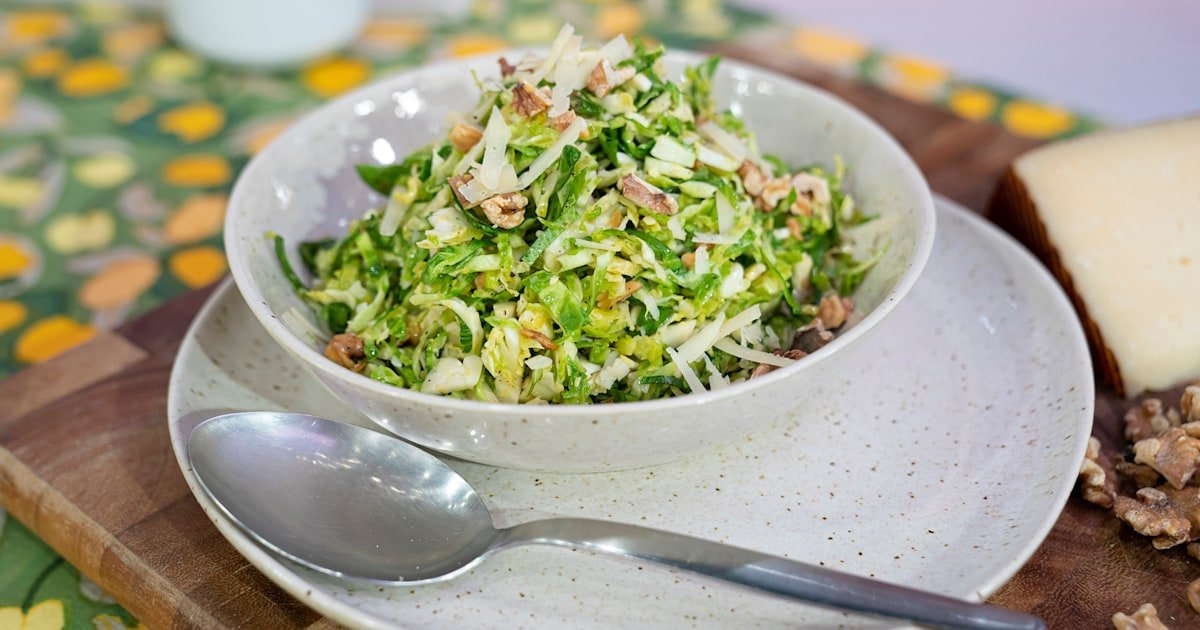 Make a light, seasonal Brussels sprouts salad in just 15 minutes