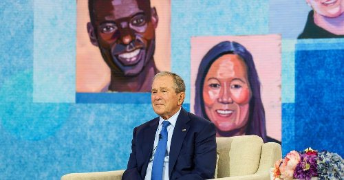 President Bush's immigration-focused art exhibit is an exercise in revisionism
