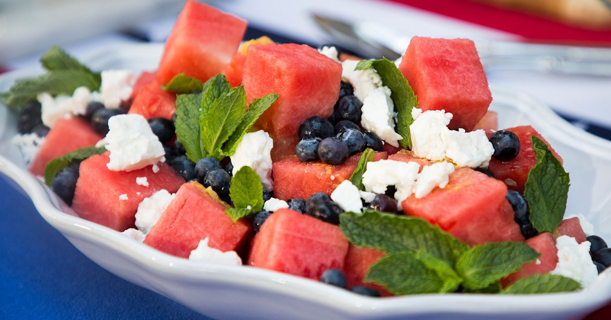 Sweet fruit and salty feta complement each other in this easy salad