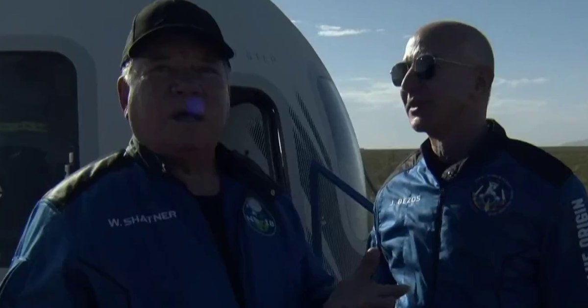 WATCH: Shatner says 'everybody in the world needs to do this' after spaceflight