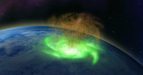 'Space hurricane' that rained electrons observed for the first time