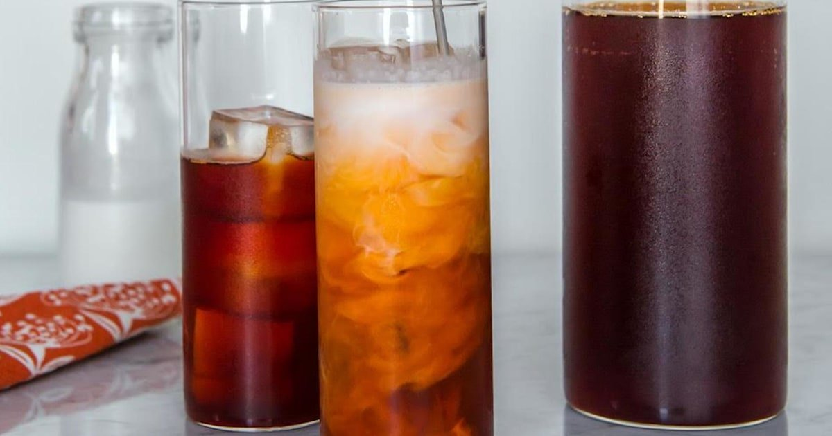 Cool down on hot days with a sweet and creamy Thai iced tea