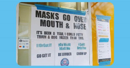 'Masks go over mouth & nose': Food truck's sign about mask-wearing goes viral