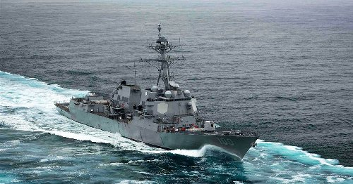 Drones that swarmed U.S. warships are still unidentified, Navy chief says