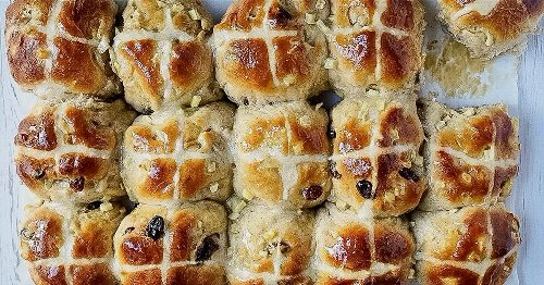 How to make hot cross buns and use the leftovers for Easter bread pudding