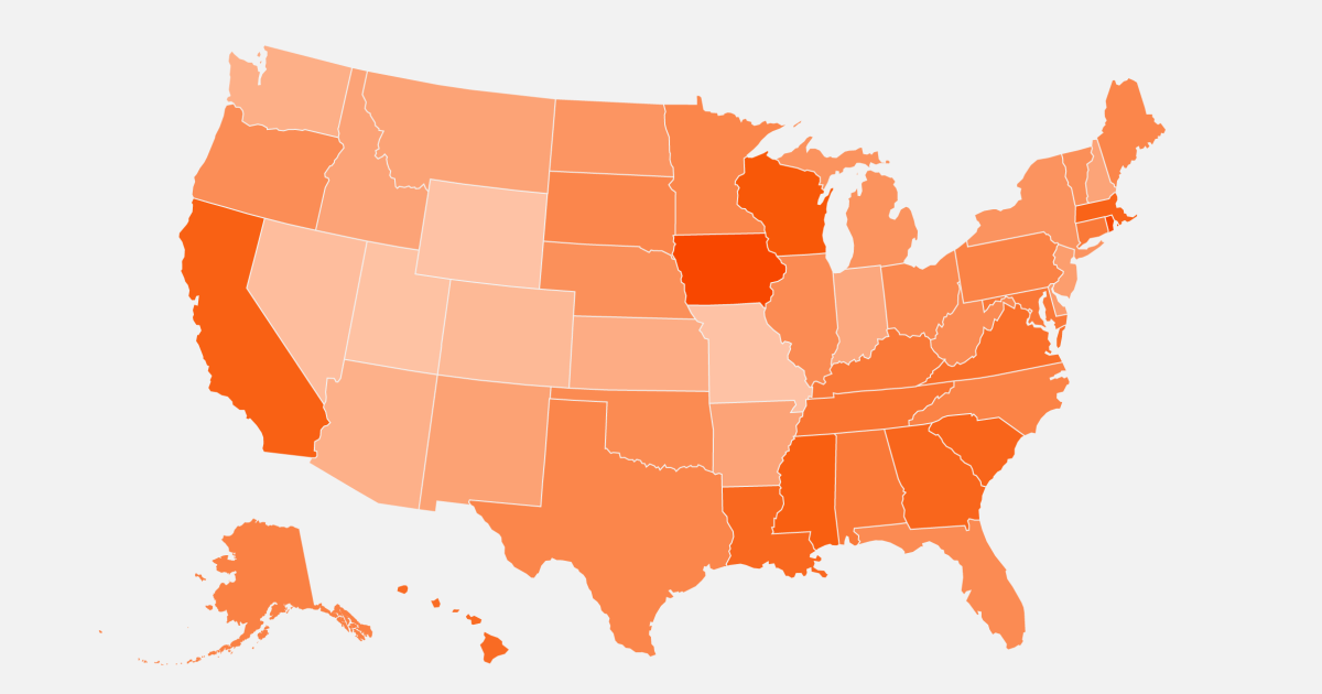 Map: Coronavirus cases are rising around the U.S. See where case counts are rising the most.