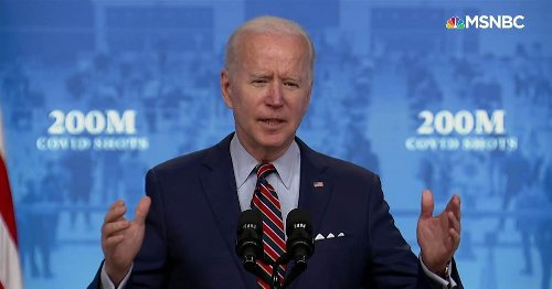 'We did it': Biden announces U.S. has reached goal of 200 million Covid vaccinations