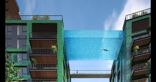 Swim 10 stories in the air with London's transparent 'Sky Pool'