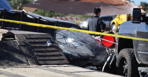 Two children dead, eight people hurt when drag racer veers off track