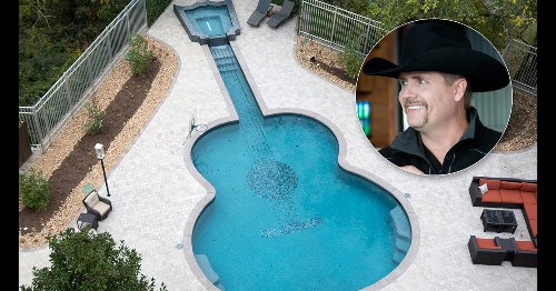 John Rich gives us a tour of his home — with a guitar-shaped pool!