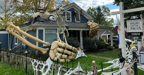 You have to take a closer look at this larger-than-life Halloween display