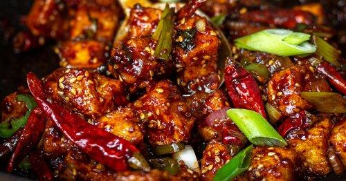 The Korean Vegan makes crunchy tofu in a spicy, garlicky sauce