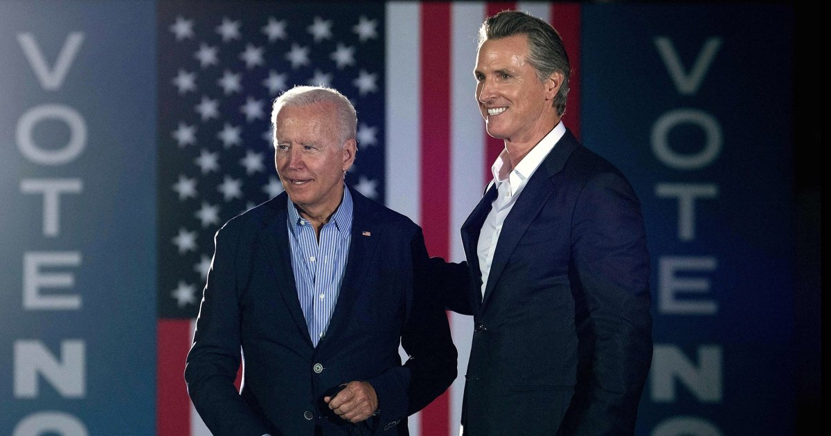 Biden, Newsom campaign in California ahead of closely watched recall