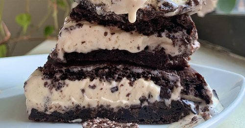 Turn perfect brownies into somehow-even-better ice cream sandwiches
