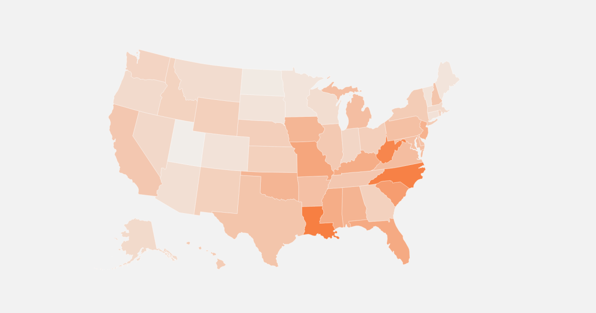 Map: Here's how many people could face evictions across the U.S.