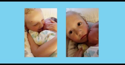 Watch this sweet sibling moment take a dramatic turn