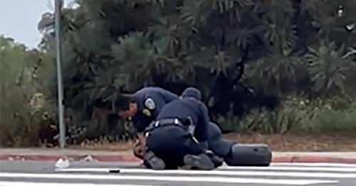 San Diego police launch investigation after officers seen repeatedly punching Black man during arrest