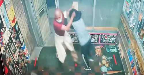 Two Asian women repeatedly attacked with cinder block as they closed Baltimore store