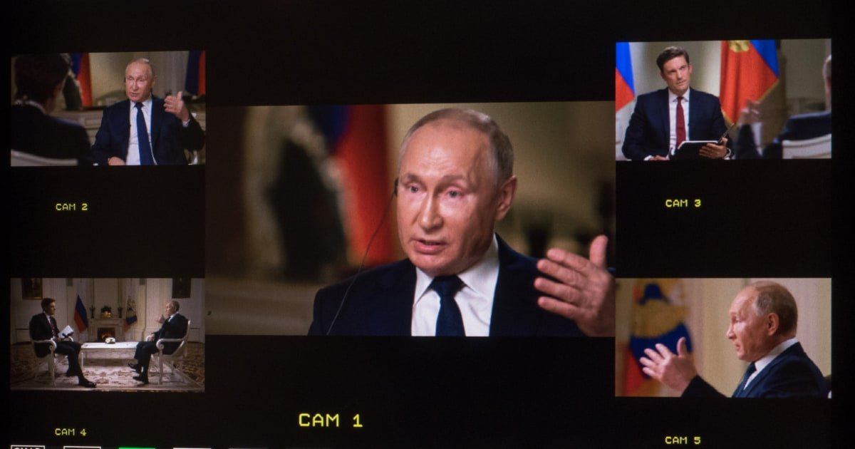FULL TEXT: NBC News' exclusive interview with Russia's Vladimir Putin