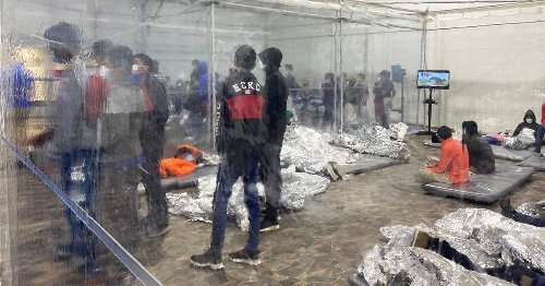 Photos show crowded conditions for migrants at Texas Border Patrol facility