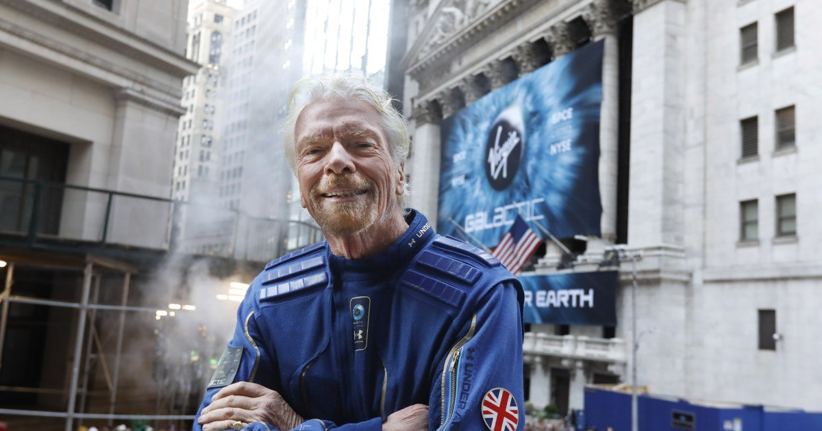 Richard Branson says he 'can't wait' to rocket to space Sunday