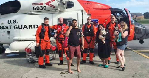 3 friends rescued by Coast Guard after their pink flamingo raft drifts off into Alaska bay