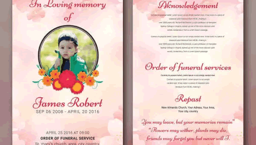 Funeral Programs Templates - Funeral Programs Templates