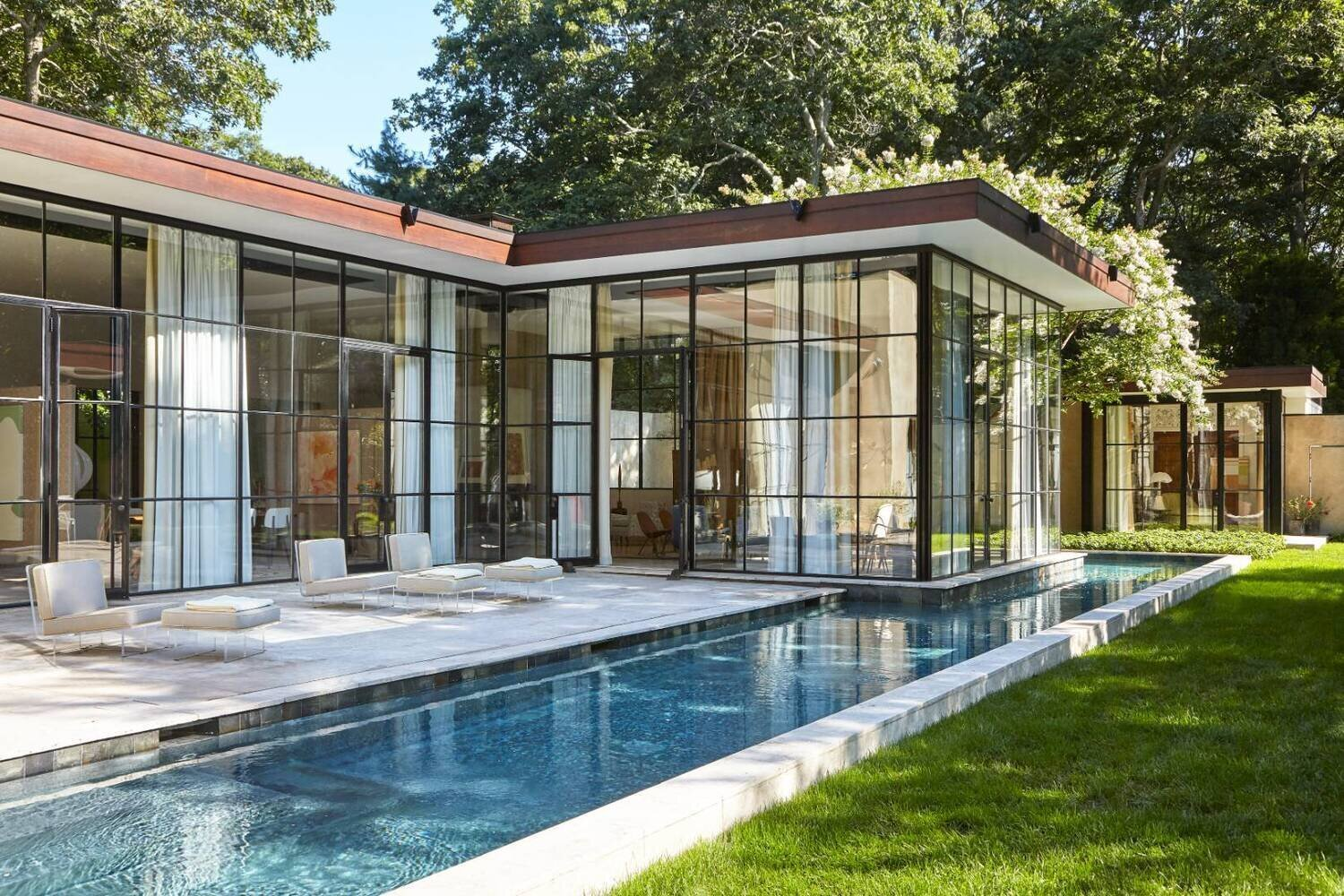 Architect Michael Haverland's Celebrated Glass House Hits the Market in East Hampton at $5M