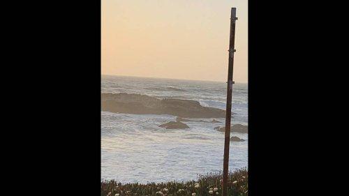 'Dangerous' waves strand three men on rocks along California beach, officials say