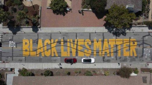 Vandalism of Black Lives Matter street mural ends in arrests, California cops say