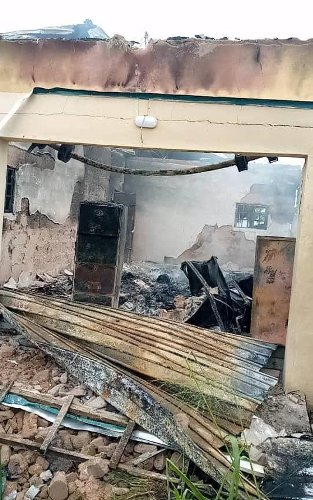 BREAKING: Independent National Electoral Commission Office Set Ablaze In Abia, Elections Threatened