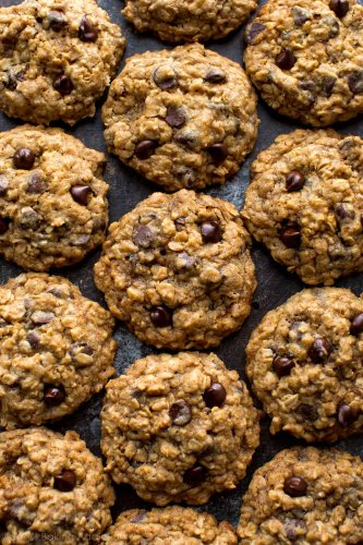 Chewy Oatmeal Chocolate Chip Cookies | Sally's Baking Addiction