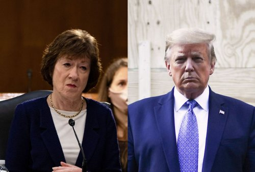 Susan Collins suggests going light on Donald Trump while lashing out at Chuck Schumer
