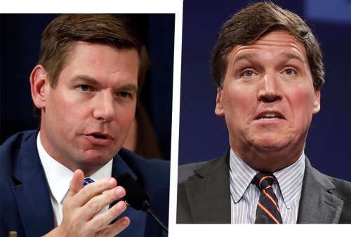 """Eric Swalwell reveals angry text exchange with Tucker Carlson: """"You falsely smeared my wife"""""""