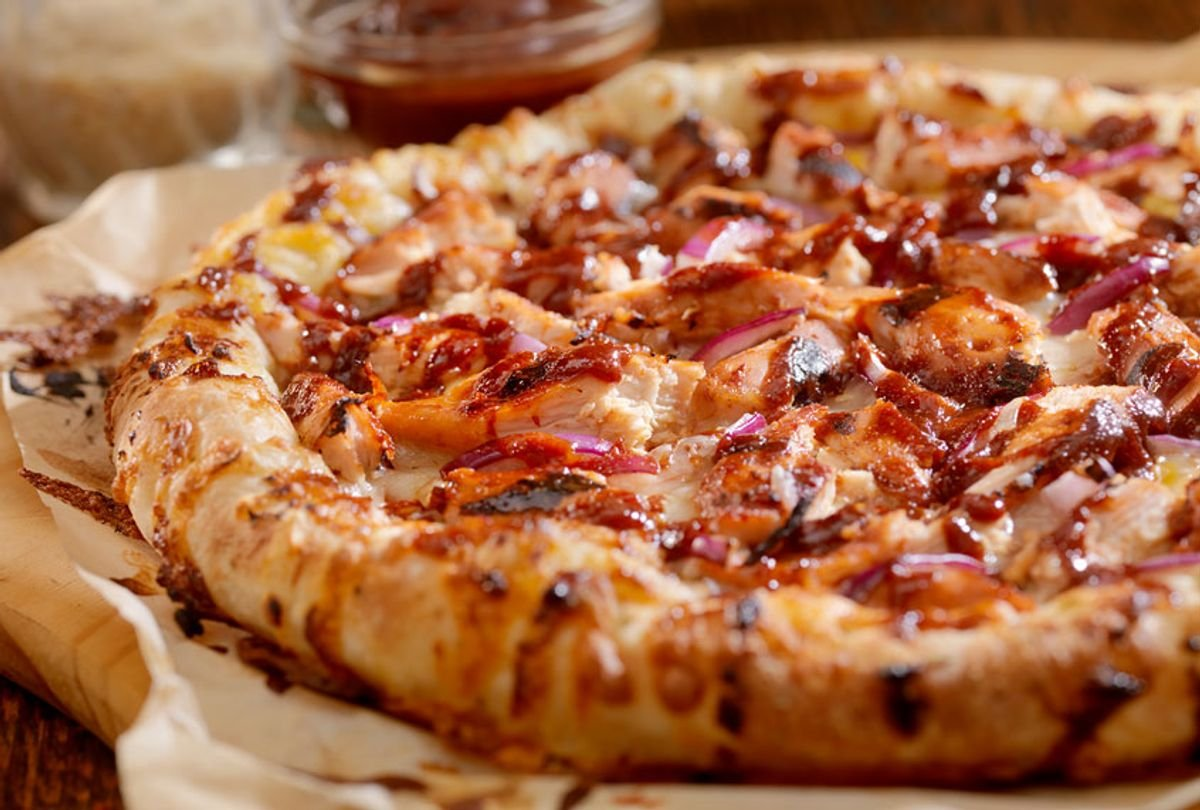 Grill this barbecue chicken pizza to add extra smoky flavor