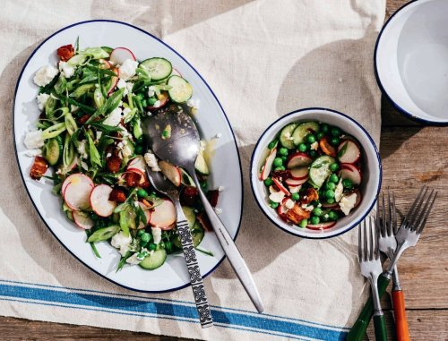Packed with flavor and protein, this colorful salad is substantial enough to be a meal in itself