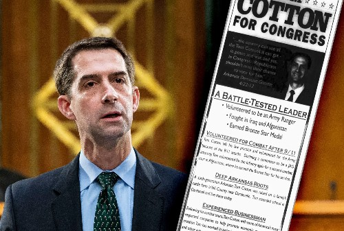 """Sen. Tom Cotton campaigned on his """"experience as an Army Ranger"""" — but he didn't have any"""